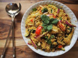 Quinoa-Salat als vegane Proteinquelle