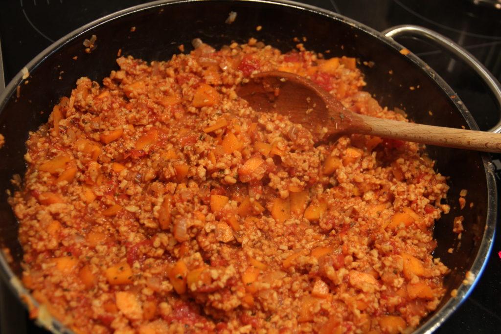 Vegane Zucchini-Lasagne Füllung