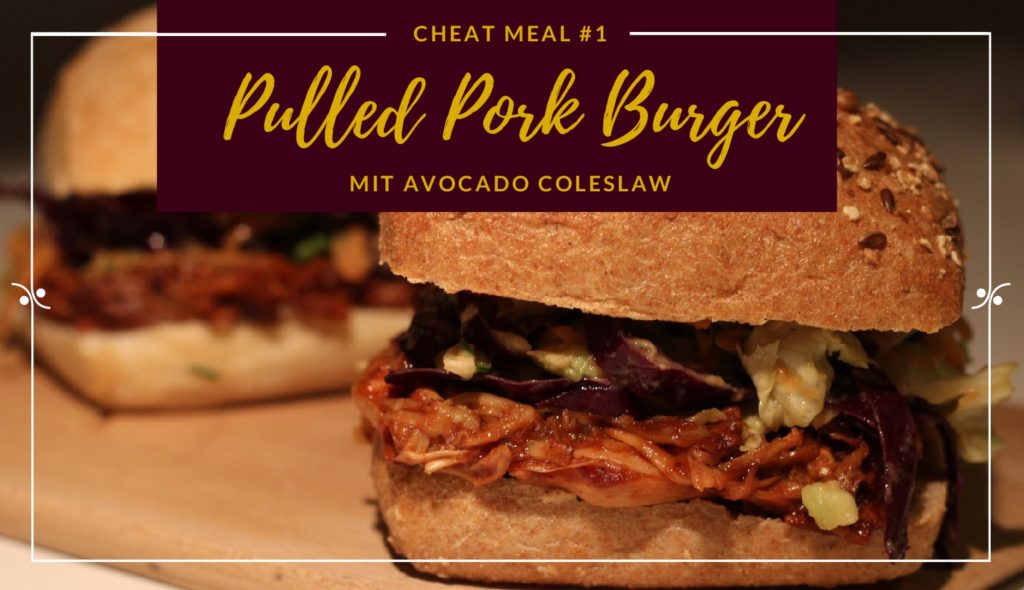 Pulled Pork Burger mit Avocado Coleslaw