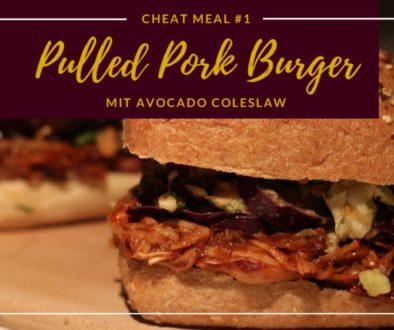 Pulled Pork Burger mit Avocado Coleslaw