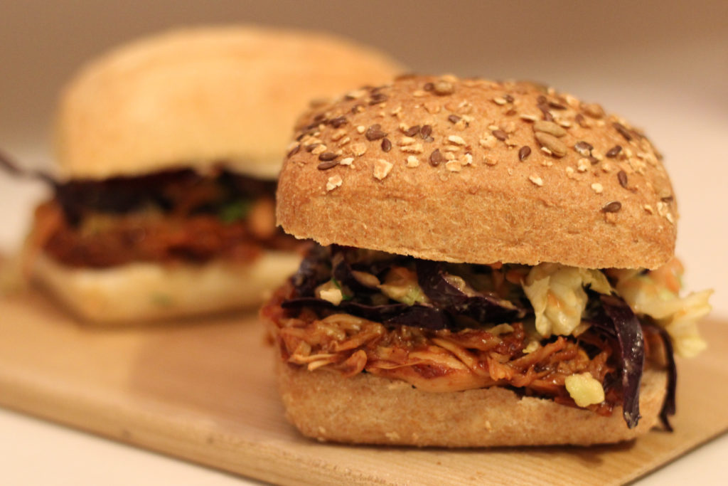 Vegane Pulled-Pork Burger