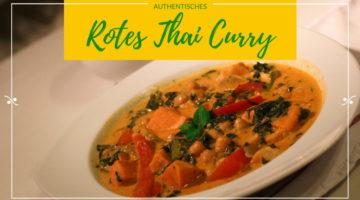 Authentisches Rotes Thai Curry Titelbild