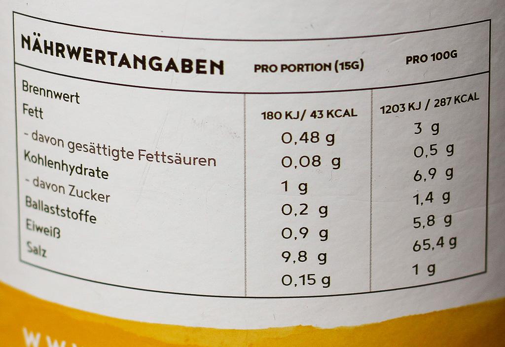 Vegan Protein Alpha Foods Nährwerte
